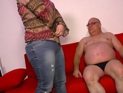 DEUTSCHLAND REPORT - Fat German mature newbie gets her horny pussy slammed hard