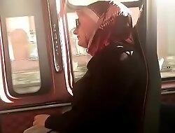 Hidden bus sexy hijab girl