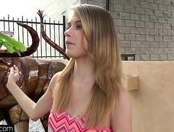 Petite teen Hannah Hays cheats on bf hither public