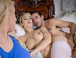 Slutty Step Mom Gives Blowjob to Her Daughter's Boyfriend - Maxim Law, Darcie Belle