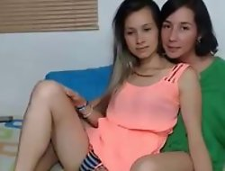 My wife and daughter webcam homemade show