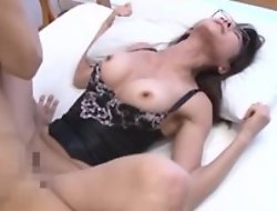 Asian housewife with black peak enjoys intense pussy pounding
