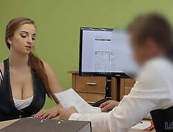 LOAN4K. Slut fucks with loan agent to repair her husband's car