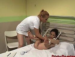 Tormented sub babe toyed by lezdom nurse b like