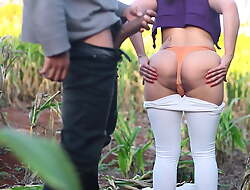 Hot anal fuck in a cornfield - Amateur Ana Chaude